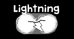 A lightning cloud appears over the head of the enemy. Shortly after, a lightning bolt strikes.