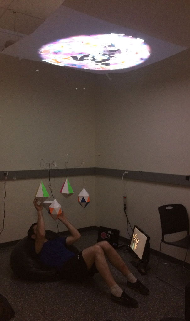 The set-up for the playtest (photo by Kailin Zhu)