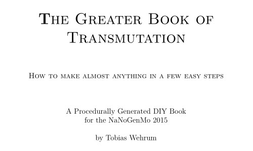 The Greater Book of Transmutation Title